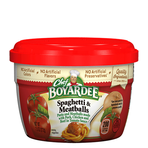 Chef Boyardee Spaghetti and Meatball Cups