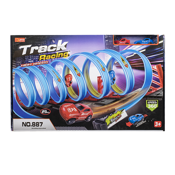 29 pc Track Racing Loop Set with 2 Cars
