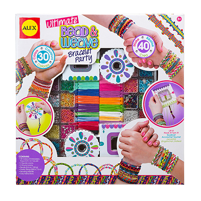 ALEX Ultimate Bead and Weave Bracelet Party Kit