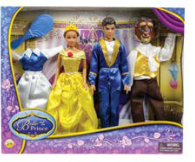 Disney Belle and the Prince dolls