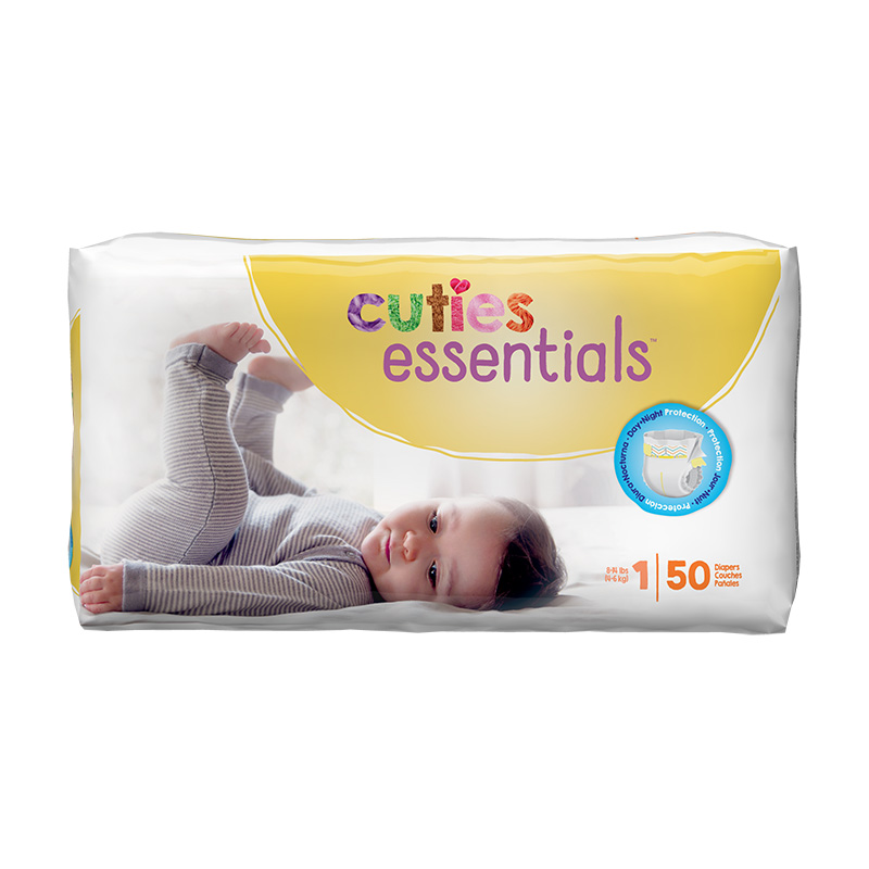 Cuties Size 1 Diapers
