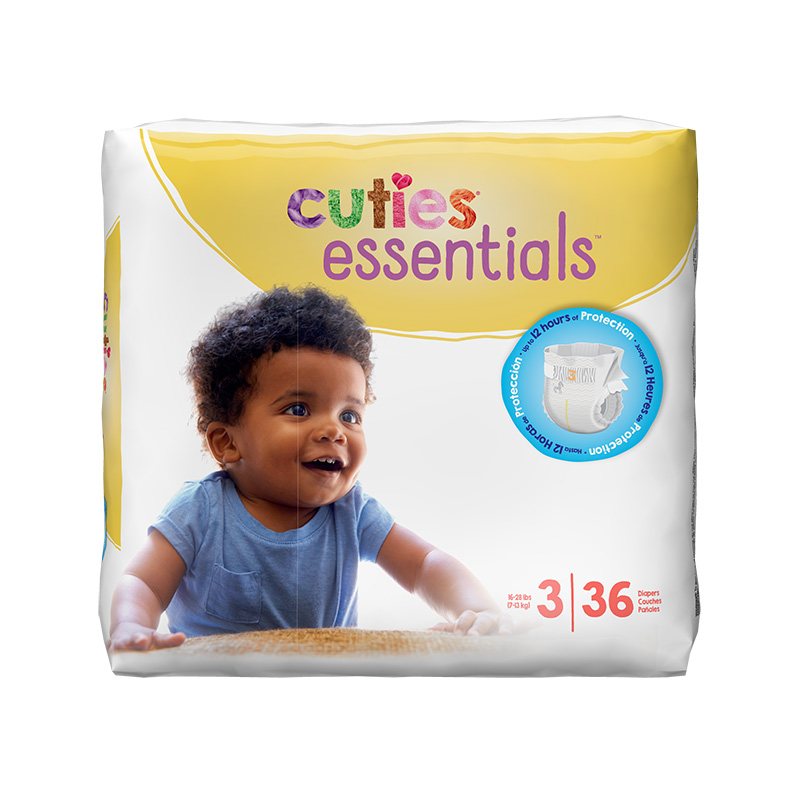 Cuties Size 3 Diapers