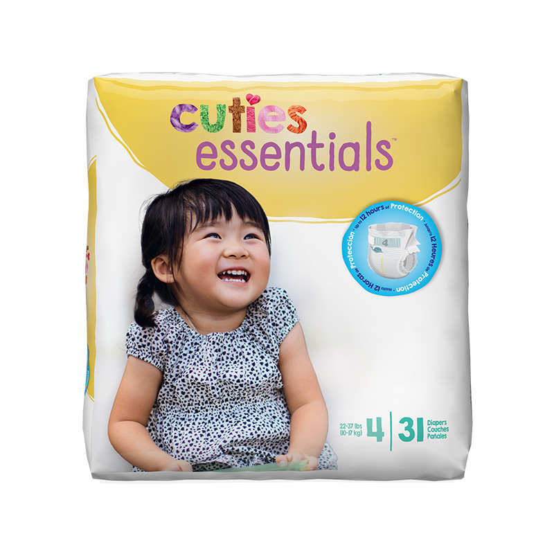Cuties Size 4 Diapers