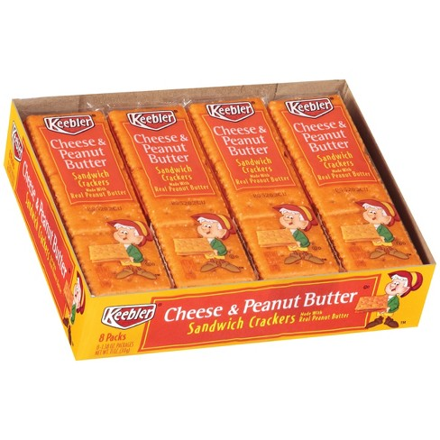 Keebler Cheese Cracker Sandwiches with Peanut Butter