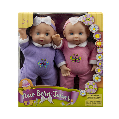 Newborn Twins Baby Doll Set