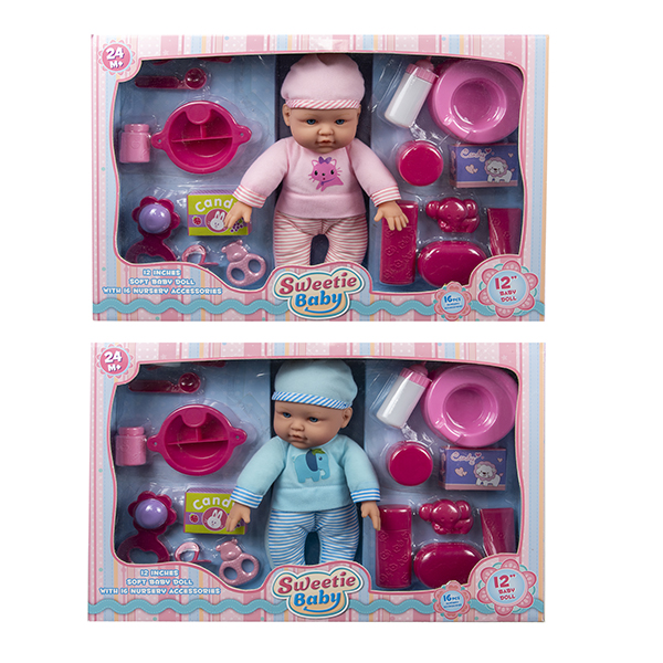 12 inch Sweetie Baby Doll with accessories playset