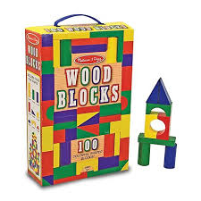 Melissa and Doug Wooden Building Blocks