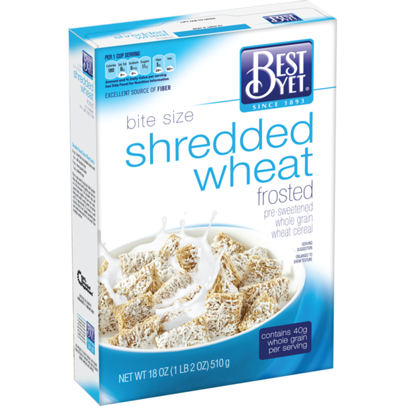 Best Yet Frosted Shredded Wheat Cereal