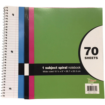 Notebooks - wide ruled