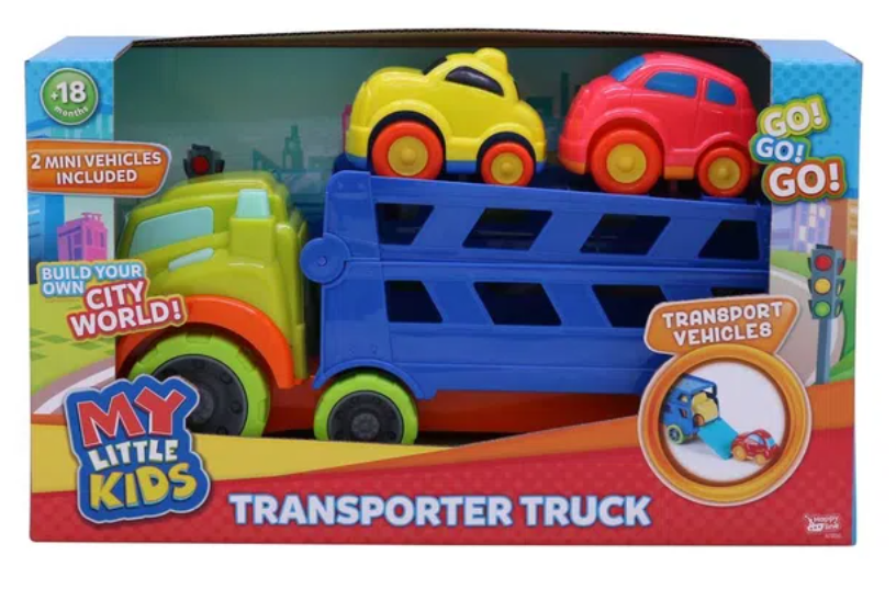 My Little Kids Transporter Truck Playset