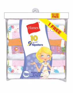 Hanes Girls Hipsters - (10 ct)